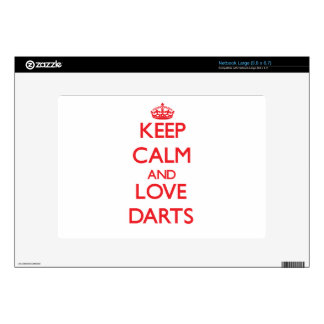 Keep calm and love Darts Decal For Large Netbook