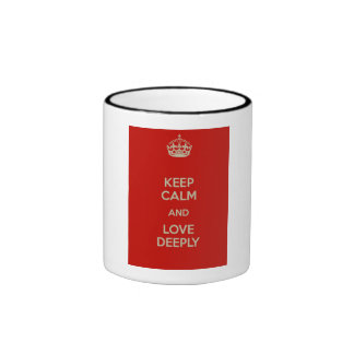 Keep Calm and Love Deeply Ringer Mug