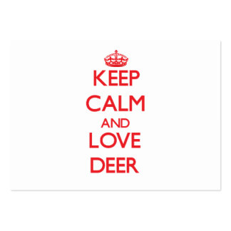 Keep calm and love Deer Business Card