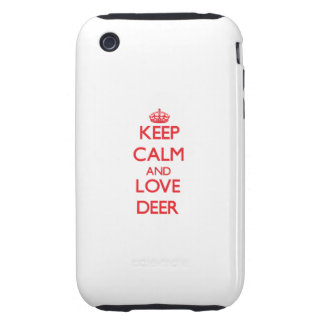 Keep calm and love Deer iPhone 3 Tough Cases