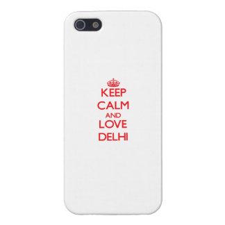 Keep Calm and Love Delhi iPhone 5 Cover
