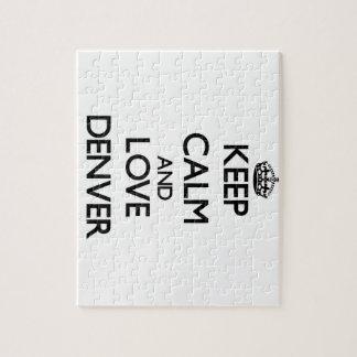Keep Calm and love Denver Jigsaw Puzzle