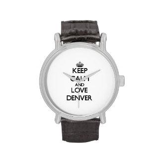 Keep Calm and love Denver Watch