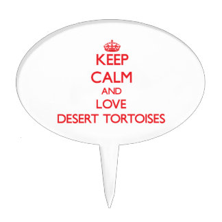 Keep calm and love Desert Tortoises Cake Toppers