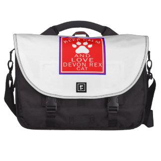Keep Calm And Love Devon Rex Computer Bag