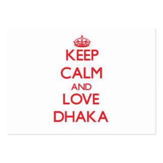 Keep Calm and Love Dhaka Business Card Templates