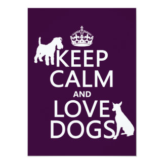 Keep Calm and Love Dogs - all colors Card