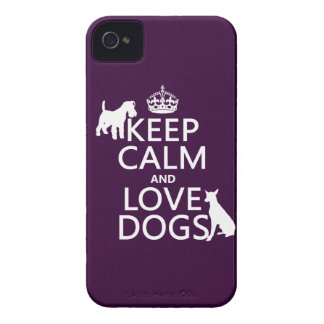 Keep Calm and Love Dogs - all colors iPhone 4 Case-Mate Case