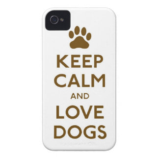 Keep Calm and Love dogs animal pet pets paw iPhone 4 Case-Mate Case