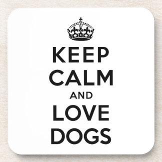 Keep Calm and Love Dogs Coaster