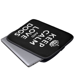 Keep Calm and Love Dogs Laptop Sleeves