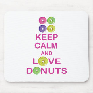 Keep Calm and Love Donuts Unique Doughnut Gift Mouse Pad