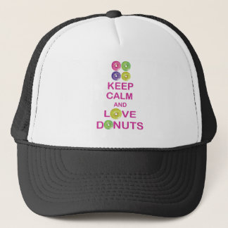 Keep Calm and Love Donuts Unique Doughnut Gift Trucker Hat