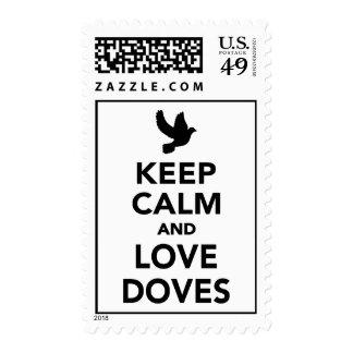 Keep calm and love Doves Stamps