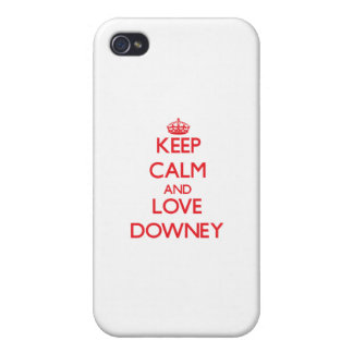 Keep Calm and Love Downey iPhone 4 Cases