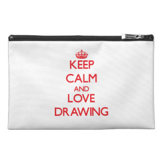 Keep calm and love Drawing Travel Accessory Bags