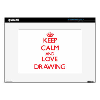Keep calm and love Drawing Netbook Skin