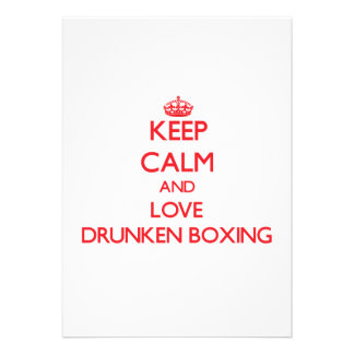 Keep calm and love Drunken Boxing Card