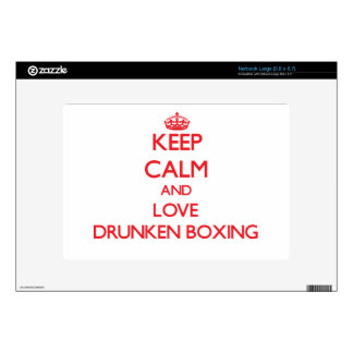 Keep calm and love Drunken Boxing Large Netbook Skin