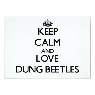 Keep calm and Love Dung Beetles 5x7 Paper Invitation Card
