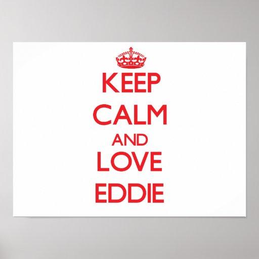 Keep Calm and Love Eddie Print