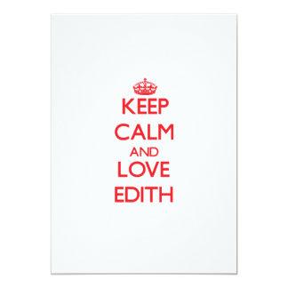 Keep Calm and Love Edith 5x7 Paper Invitation Card