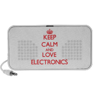Keep calm and love Electronics iPod Speakers