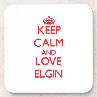 Keep Calm and Love Elgin Coaster