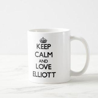 Keep calm and love Elliott Classic White Coffee Mug