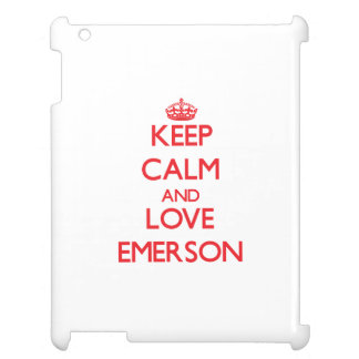 Keep calm and love Emerson iPad Covers