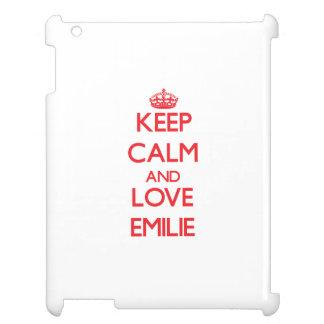 Keep Calm and Love Emilie iPad Cases