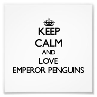 Keep calm and Love Emperor Penguins Photograph