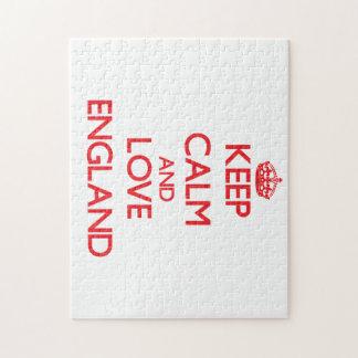 Keep Calm and Love England Jigsaw Puzzle