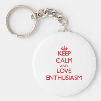 Keep calm and love Enthusiasm Key Chains