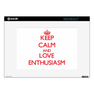 Keep calm and love Enthusiasm Netbook Decals