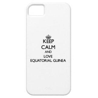 Keep Calm and Love Equatorial Guinea iPhone 5 Covers