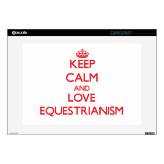 "Keep calm and love Equestrianism 15"" Laptop Decals"
