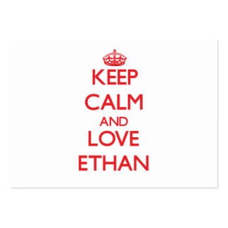 Keep Calm and Love Ethan Large Business Cards (Pack Of 100)