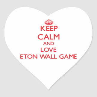 Keep calm and love Eton Wall Game Stickers