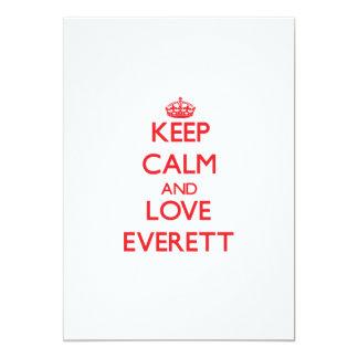 Keep calm and love Everett 5x7 Paper Invitation Card