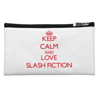 Keep calm and love Fiction Cosmetics Bags