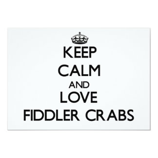 Keep calm and Love Fiddler Crabs Cards