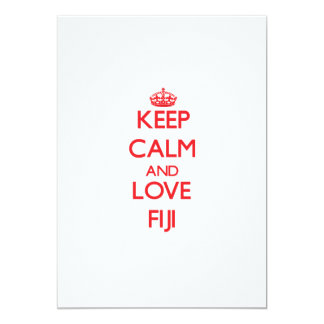 Keep Calm and Love Fiji 5x7 Paper Invitation Card