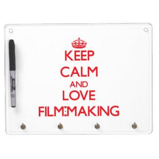 Keep calm and love Film-Making Dry Erase White Board