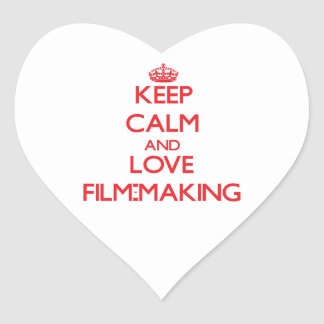 Keep calm and love Film-Making Stickers