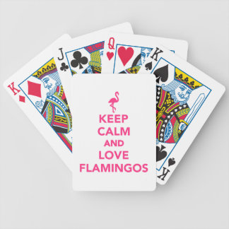 Keep calm and love Flamingos Bicycle Playing Cards