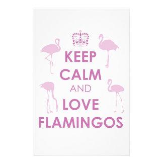 Keep Calm and Love Flamingos Stationery