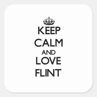 Keep Calm and love Flint Sticker