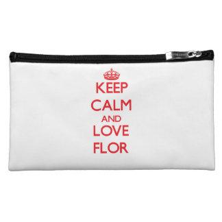 Keep Calm and Love Flor Makeup Bag