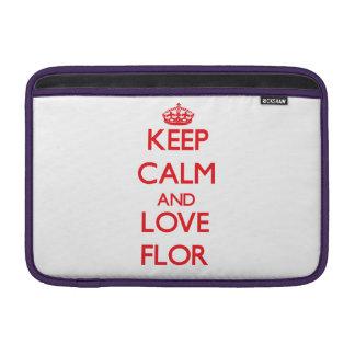 Keep Calm and Love Flor MacBook Air Sleeves